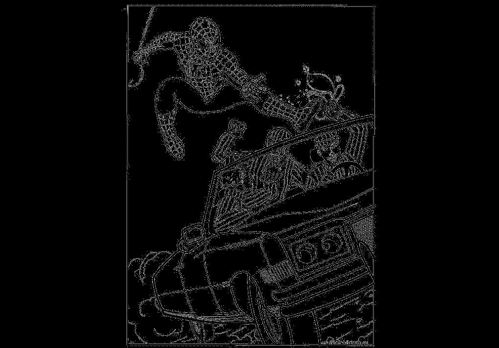 Распечатать раскраски человек паук 4
